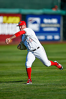 Orem Owlz starting pitcher Jonah Wesely (26) throws before the game against the Billings Mustangs in Pioneer League action at Home of the Owlz on July 25, 2016 in Orem, Utah. Orem defeated Billings 6-5. (Stephen Smith/Four Seam Images)