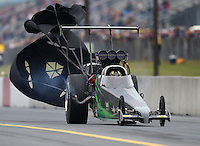Oct 2, 2016; Mohnton, PA, USA; NHRA top alcohol dragster driver Cody Perkins during the Dodge Nationals at Maple Grove Raceway. Mandatory Credit: Mark J. Rebilas-USA TODAY Sports