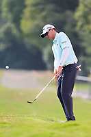 John Catlin (USA) on the 18th green during the 2nd round at the WGC HSBC Champions 2018, Sheshan Golf CLub, Shanghai, China. 26/10/2018.<br /> Picture Fran Caffrey / Golffile.ie<br /> <br /> All photo usage must carry mandatory copyright credit (&copy; Golffile | Fran Caffrey)