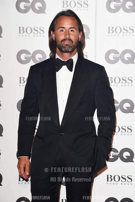 LONDON, UK. September 05, 2018: Jay Rutland at the GQ Men of the Year Awards 2018 at the Tate Modern, London