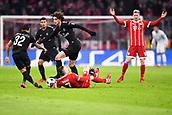 December 5th 2017, Allianze Arena, Munich, Germany. UEFA Champions league football, Bayern Munich versus Paris St Germain;  ADRIEN RABIOT (psg) fouls Franck RIBERY (bay)