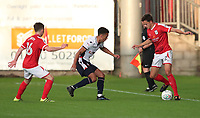 Bolton Wanderers Antonee Robinson in action with Crewe Alexandra's Perry Ng<br /> <br /> Photographer Rachel Holborn/CameraSport<br /> <br /> The Carabao Cup - Crewe Alexandra v Bolton Wanderers - Wednesday 9th August 2017 - Alexandra Stadium - Crewe<br />  <br /> World Copyright &copy; 2017 CameraSport. All rights reserved. 43 Linden Ave. Countesthorpe. Leicester. England. LE8 5PG - Tel: +44 (0) 116 277 4147 - admin@camerasport.com - www.camerasport.com