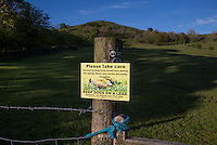 Keep dogs on a lead sign, Whitewell, Lancashire.