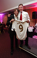 Pictured: Wednesday 10 April 2013<br /> Re: Swansea footballer Angel Rangel and wife Nicky's cancer charity fundraising dinner at the Liberty Stadium.<br /> Michu