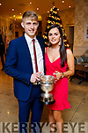 Killian Spillane and Megan O'Callaghan, pictured at the Kerry GAA awards held at The Rose Hotel, Tralee on Saturday night last.