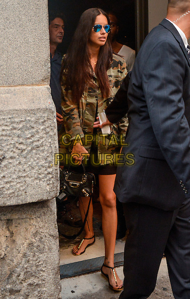 NEW YORK, NY - SEPTEMBER 11: Adriana Lima outside of Marc Jacobs fashion show on September 11, 2014 in New York City.  <br /> CAP/MPI/mpi63<br /> &copy;mpi63/MediaPunch/Capital Pictures