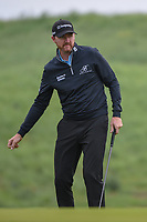 Jimmy Walker (USA) reacts to barely missing his birdie putt on 10 during day 1 of the Valero Texas Open, at the TPC San Antonio Oaks Course, San Antonio, Texas, USA. 4/4/2019.<br /> Picture: Golffile   Ken Murray<br /> <br /> <br /> All photo usage must carry mandatory copyright credit (&copy; Golffile   Ken Murray)