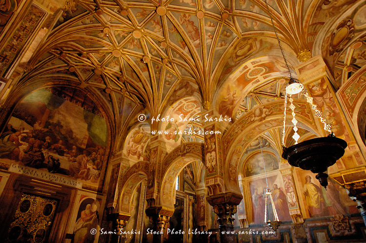 Frescoes inside the Catedral de Cordoba, a former medieval mosque, Cordoba, Andalusia, Spain.