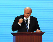 In this file photo, former United States Senator Fred Thompson (Republican of Tennessee) speaks in favor of the candidacy of United States Senator John McCain (Republican of Arizona) at the 2008 Republican National Convention in St. Paul, Minnesota on Tuesday, September 2, 2008. Thompson's family announced he passed away on Sunday, November 1, 2015 at age 73 in Nashville, Tennessee after a recurrence of lymphoma.<br /> Credit: Ron Sachs / CNP<br /> (RESTRICTION: NO New York or New Jersey Newspapers or newspapers within a 75 mile radius of New York City)