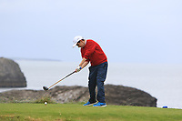 Matthew Whelan (Ennis) on the 4th tee during the Munster Final of the AIG Junior Cup at Tralee Golf Club, Tralee, Co Kerry. 13/08/2017<br /> Picture: Golffile | Thos Caffrey<br /> <br /> <br /> All photo usage must carry mandatory copyright credit     (&copy; Golffile | Thos Caffrey)