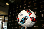 08 December 2016: An official adidas MLS Nativo match ball. Major League Soccer held a press conference with Toronto FC and Seattle Sounders FC at the Kia Training Ground in Toronto, Ontario in Canada two days before MLS Cup 2016.