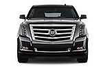 Car photography straight front view of a 2015 Cadillac Escalade Premium 5 Door SUV 2WD Front View