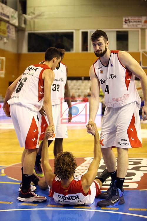 Regal XXXV Llia Nacional Catalana ACB 2014-Semifinals.<br /> FC Barcelona vs La Bruixa d'Or Manresa: 82-66.<br /> Marc Garcia, Roger Grimau &amp; AJ Ogilvy.