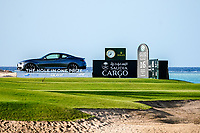 Saudi Cargo board at the 16th tee during the Preview of the Saudi International at the Royal Greens Golf and Country Club, King Abdullah Economic City, Saudi Arabia. 29/01/2020<br /> Picture: Golffile | Thos Caffrey<br /> <br /> <br /> All photo usage must carry mandatory copyright credit (© Golffile | Thos Caffrey)