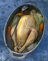 Europe/France/Aquitaine/64/Pyrénées-Atlantiques/Laruns : Poule au pot - Recette de Mr Coudouy (restaurateur)