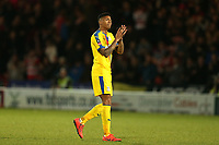 Patrick van Aanholt of Crystal Palace applauds the fans after Doncaster Rovers vs Crystal Palace, Emirates FA Cup Football at the Keepmoat Stadium on 17th February 2019