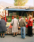 ITALY, Verona, people shopping in vegetable and fruit market
