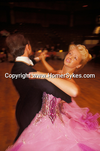 Ballroom dancing competition Blackpool Lancashire Winter gardens Ballroom. 1980s Britain