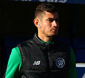4th November 2017, McDiarmid Park, Perth, Scotland; Scottish Premiership football, St Johnstone versus Celtic; Nir Bitton goes through his pre-match warm-uo