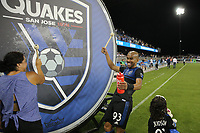 SAN JOSE, CA - AUGUST 24: Judson #93 of the San Jose Earthquakes celebrates after a Major League Soccer (MLS) match between the San Jose Earthquakes and the Vancouver Whitecaps FC  on August 24, 2019 at Avaya Stadium in San Jose, California.