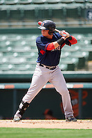 GCL Red Sox left fielder Raiwinson Lameda (17) at bat during a game against the GCL Orioles on August 16, 2016 at the Ed Smith Stadium in Sarasota, Florida.  GCL Red Sox defeated GCL Orioles 2-0.  (Mike Janes/Four Seam Images)