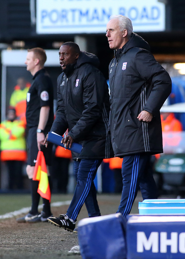 Ipswich Town manager Mick McCarthy looks on from the touchline<br /> <br /> Photographer David Shipman/CameraSport<br /> <br /> The EFL Sky Bet Championship - Ipswich Town v Blackburn Rovers - Saturday 14th January 2017 - Portman Road - Ipswich<br /> <br /> World Copyright &copy; 2017 CameraSport. All rights reserved. 43 Linden Ave. Countesthorpe. Leicester. England. LE8 5PG - Tel: +44 (0) 116 277 4147 - admin@camerasport.com - www.camerasport.com