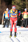 Martin Johnsrud Sundby competes during the FIS Cross Country Ski World Cup15 Km Individual Classic race in Dobbiaco, Toblach a, on December 20, 2015. Norway's Martin Johnsrud Sundby wins. Credit: Pierre Teyssot