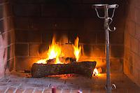 Fire place in the dining room. J Portugal Ramos Vinhos, Estremoz, Alentejo, Portugal