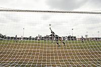 SAN ANTONIO, TX - AUGUST 29, 2010: The Houston Baptist University Huskies vs. the University of Texas at San Antonio Roadrunners Women's Soccer at Roadrunner Field. (Photo by Jeff Huehn)