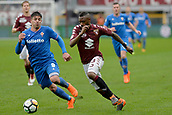 18th March 2018, Stadio Olimpico di Torino, Turin, Italy; Serie A football, Torino versus Fiorentina; Nicolas N'Koulou chases the break from Giovanni Simeone