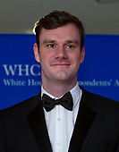 Cooper Hefner, chief creative officer of Playboy Enterprises, arrives for the 2018 White House Correspondents Association Annual Dinner at the Washington Hilton Hotel on Saturday, April 28, 2018.  Cooer is the son of the late Playboy founder Hugh Hefner.<br /> Credit: Ron Sachs / CNP<br /> <br /> (RESTRICTION: NO New York or New Jersey Newspapers or newspapers within a 75 mile radius of New York City)