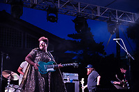 Alabama Shakes concert at the Amphitheatre.  Brittany Howard - lead singer and guitarist.<br />  (photo by Megan Bean / &copy; Mississippi State University)