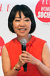 Akiko Mori, ELLE Japan Publisher speaks to the audience during the ''ELLE Women in Society'' event on July 13, 2015, Tokyo, Japan. The event promotes the working women's roll in Japanese society with various seminars where top businesswomen, musicians, writers and other international celebrities speak about the working women's roll in the world. By 2020 Prime Minister Shinzo Abe's administration aims to increase the percentage of women in leadership positions to 30% in Japan. (Photo by Rodrigo Reyes Marin/AFLO)
