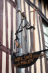 Altre Saint Maclov Sign in Rouen in Normandy, France