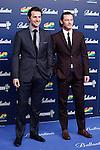 Actor Richard Armitage (L) and Luke Evans (R) pose in 40 Principales Awards photocall at Palacio de los Deportes in Madrid, Spain. December 12, 2013. (ALTERPHOTOS/Victor Blanco)