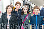 Eileen Lyne (Kells, Cahersiveen) with Noreen, Róise and Tomás Dean (Camp, Tralee) pictured at the Rose of Tralee parade on Sunday afternoon last.