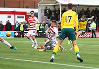 2nd February 2020; New Douglas Park, Hamilton, South Lanarkshire, Scotland; Scottish Premiership, Hamilton Academical versus Celtic; James Forrest of Celtic makes it 4-1 to Celtic in the 91st minute