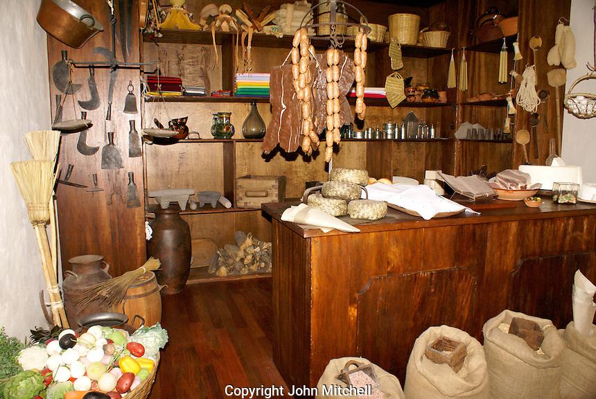 Replica of a traditional Mexican  pulperia or General store, Museo Historico de San Miguel de Allende in San miguel de Allende, Mexico. San Miguel de Allende is a UNESCO World Heritage Site....