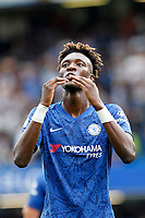 Tammy Abraham of Chelsea blows kisses to the fans during the Premier League match between Chelsea and Sheff United at Stamford Bridge, London, England on 31 August 2019. Photo by Carlton Myrie / PRiME Media Images.