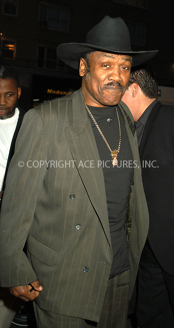 WWW.ACEPIXS.COM . . . . . ....NEW YORK, APRIL 13, 2005....Joe Frazier at the 'Ring of Fire the Emile Griffith Story' premiere held at the Beekman Theater.....Please byline: KRISTIN CALLAHAN - ACE PICTURES.. . . . . . ..Ace Pictures, Inc:  ..Craig Ashby (212) 243-8787..e-mail: picturedesk@acepixs.com..web: http://www.acepixs.com
