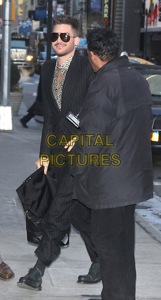 NEW YORK, MARCH 6: Adam Lambert at Good Morning America to announce Queen touring this summer with Adam Lambert on March 6, 2014 in New York City.  <br /> CAP/MPI/RW<br /> &copy;RW/ MediaPunch/Capital Pictures