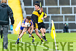 Ambrose O'Donovan Dr Crokes in action against Tadhg Morley Kenmare District in the Senior County Football Championship final at Fitzgerald Stadium on Sunday.