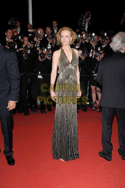 Nicole Kidman.'Hemingway & Gellhorn' screening at the 65th  Cannes Film Festival, France,.24th May 2012..full length gold beaded halternck long maxi dress  black .CAP/PL.©Phil Loftus/Capital Pictures.