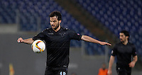 Calcio, Europa League: Lazio vs Sparta Praga. Roma, stadio Olimpico, 17 marzo 2016.<br /> Lazio's Marco Parolo in action during the round of 16 second leg soccer match between Lazio and Sparta Praha, at Rome's Olympic Stadium, 17 March 2016. Sparta Praha won 3-0 to join the quarter finals.<br /> UPDATE IMAGES PRESS/Isabella Bonotto