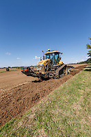 Ploughing field headlands with conservation margins - Lincolnshire, September