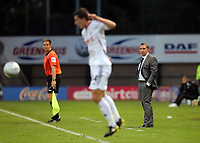 Pictured: Swansea manager Brendan Rodgers (R). Tuesday 23 August 2011<br />