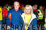 Michael O'Brien and Marie Thompson, pictured at the Darkness Into Light walk, Tralee on Saturday last.
