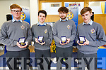6th Year students CBS The Green who were presented with their Merit Awards at a special cermony at CBS The Green,Tralee on Wednesday l-r: Alan McLoughlin,Cathal Hanafin,Con Gili and Tom Healy.