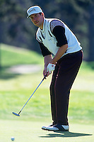 PEBBLE BEACH, CA: John Smoltz plays golf in the AT&T Pebble Beach National Pro Am in January of 1993. Photo by Brad Mangin