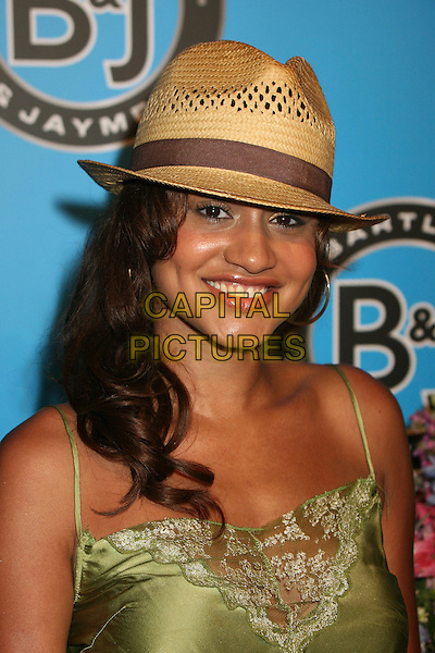 MERCEDES YVETTE .Bartles & Jaymes Poolside BBQ at the Roosevelt Hotel, Hollywood, California, USA..May 10th, 2007.headshot portrait straw hat .CAP/ADM/BP.©Byron Purvis/AdMedia/Capital Pictures